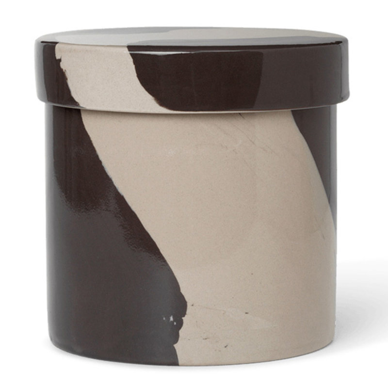 ferm LIVING-collectie Inlay Container - Large - Sand/Black