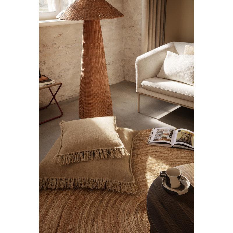 ferm LIVING-collectie Kelim Fringe Cushion - S - Sand