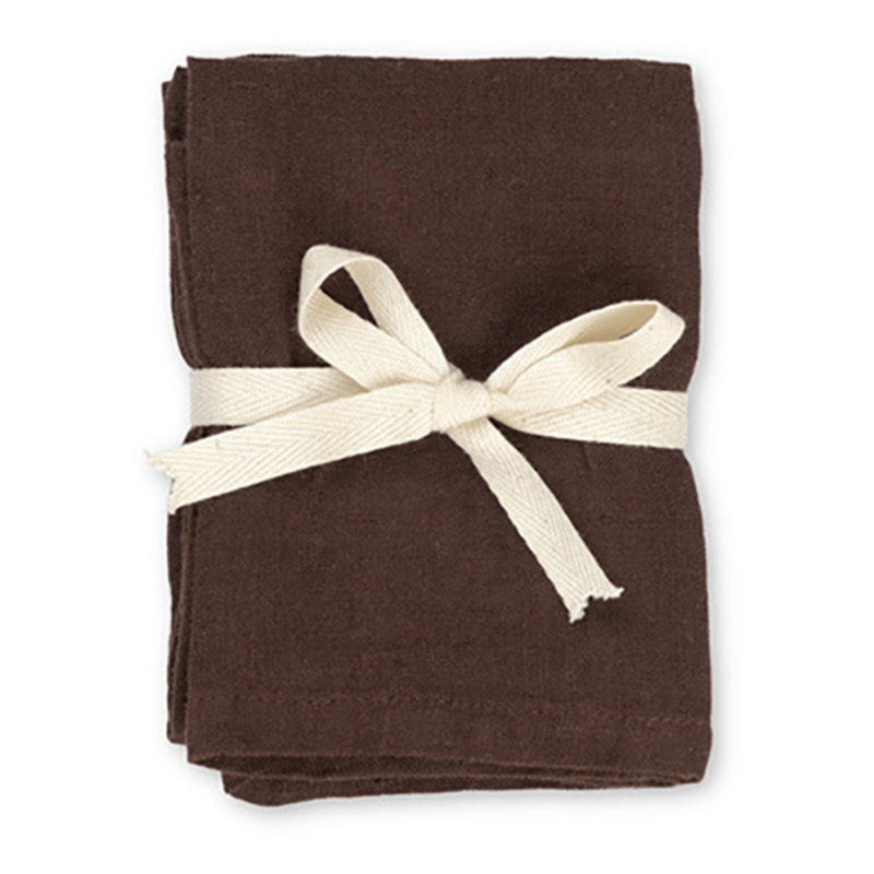 ferm LIVING-collectie Linen Napkins - Set of 2 - Chocolate