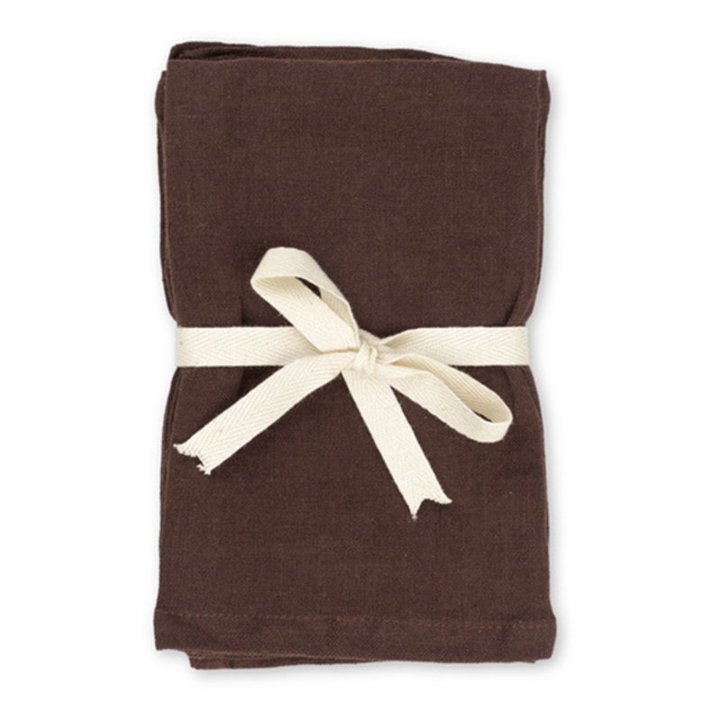 ferm LIVING-collectie Linnen Placemat - Set of 2 - Chocolate
