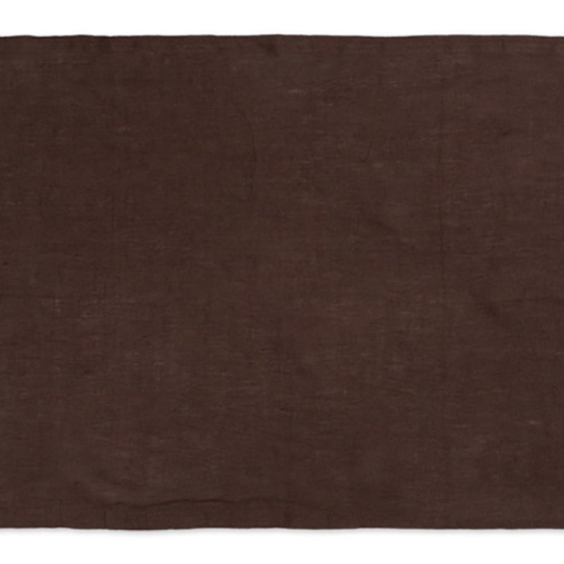ferm LIVING-collectie Linen Placemat - Set of 2 - Chocolate