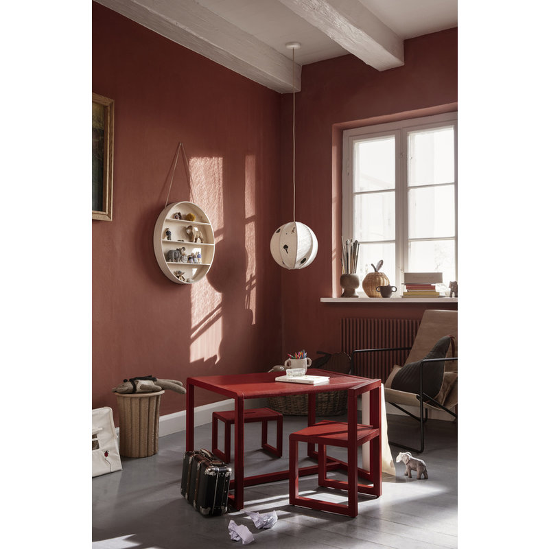 ferm LIVING-collectie Little Architect Stool - Poppy Red