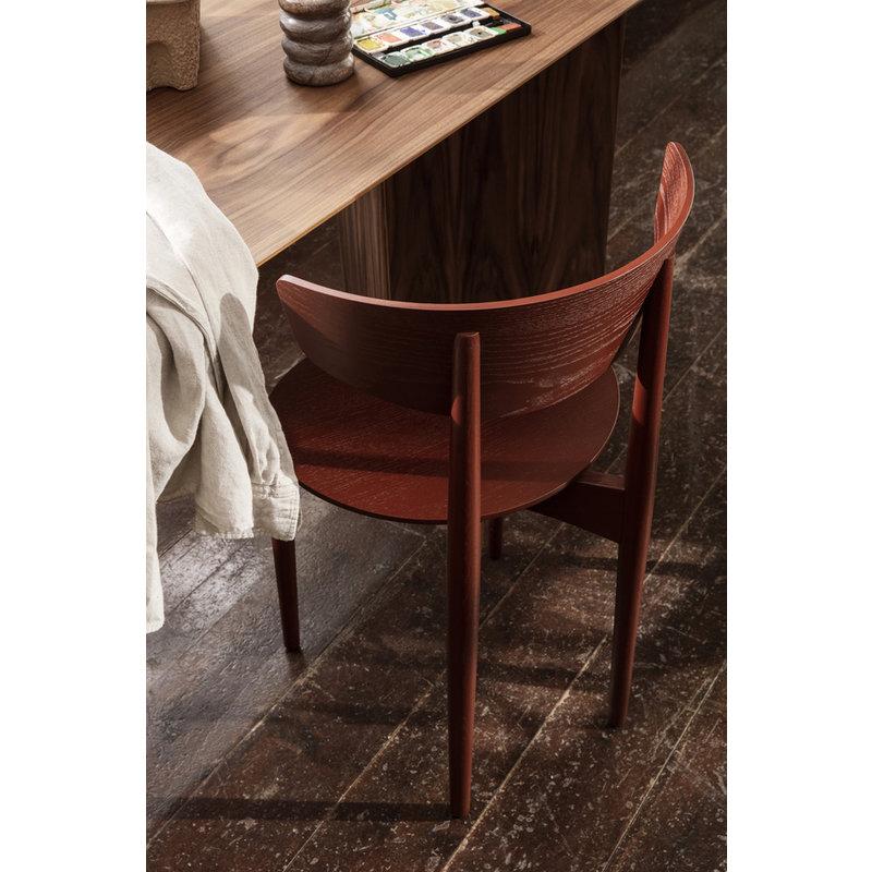 ferm LIVING-collectie Mingle Desk Top 135 cm - Walnut Veneer