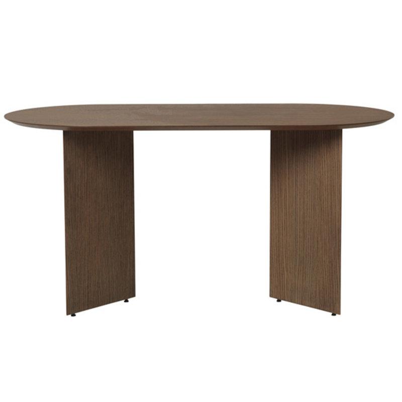 ferm LIVING-collectie Mingle Table Top Oval 150 cm - Walnut Ve