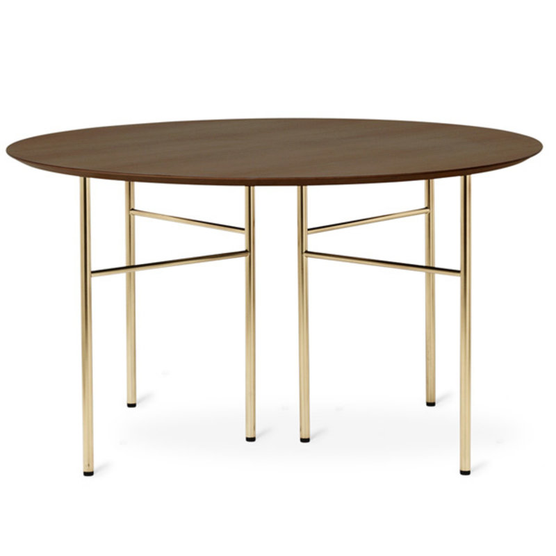 ferm LIVING-collectie Mingle Table Top Round 130 cm - Walnut V
