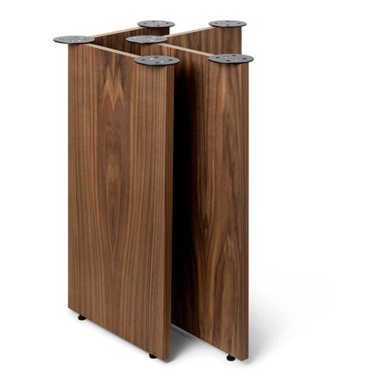 ferm LIVING-collectie Mingle Wooden Table Legs W48 - Walnut Ve
