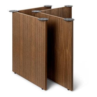 ferm LIVING Tafelpoten Mingle Wooden W68 - Walnoot Fineer