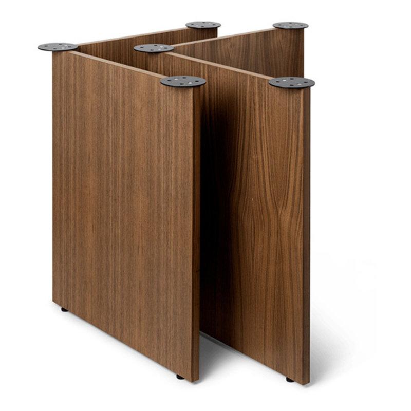 ferm LIVING-collectie Mingle Wooden Table Legs W68 - Walnut Ve