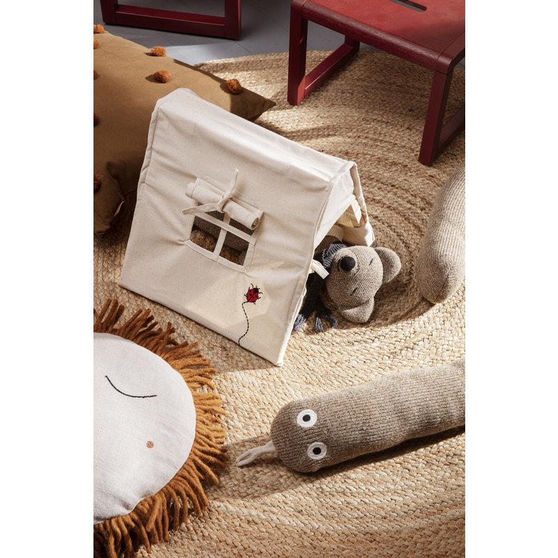 ferm LIVING-collectie Mini Tent - Ladybird Embr. - Natural