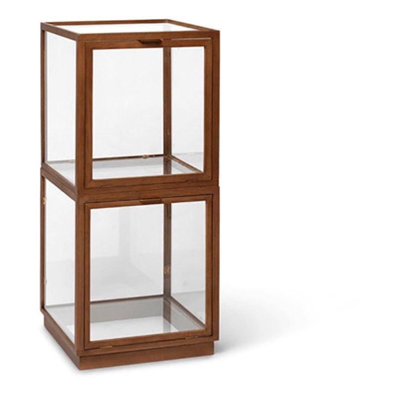 ferm LIVING-collectie Miru Glass Montre - Dark Stained Oak