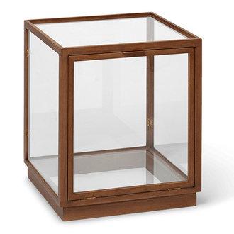 ferm LIVING Miru Glass Montre - Dark Stained Oak