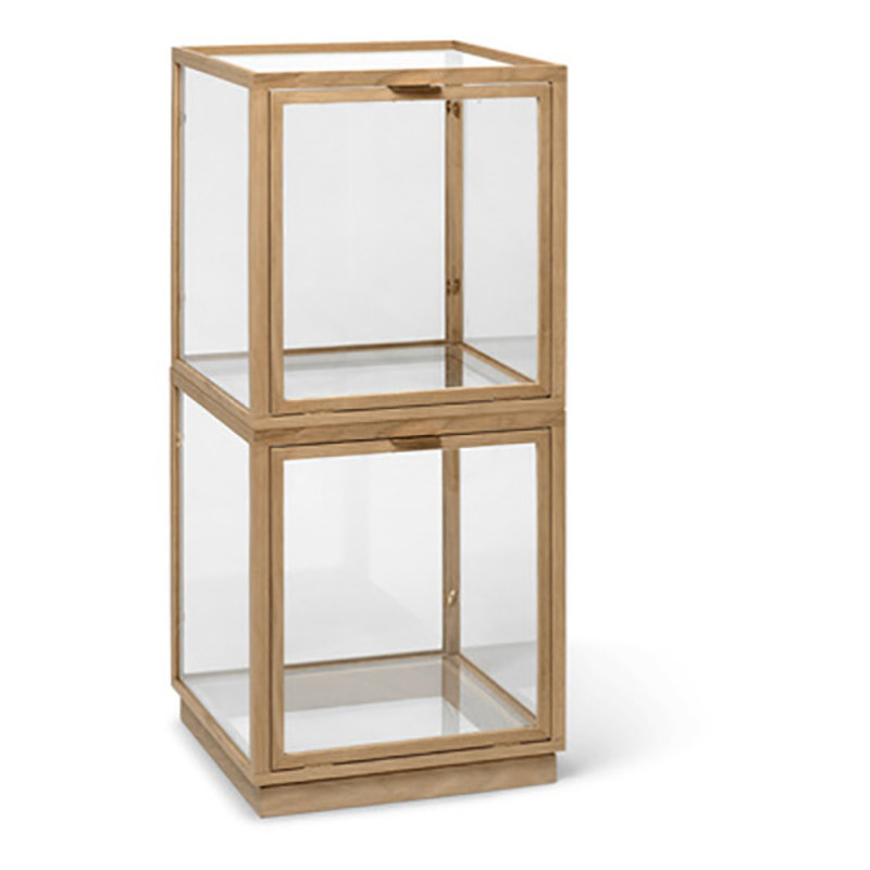 ferm LIVING-collectie Miru Glass Montre - Natural Oak