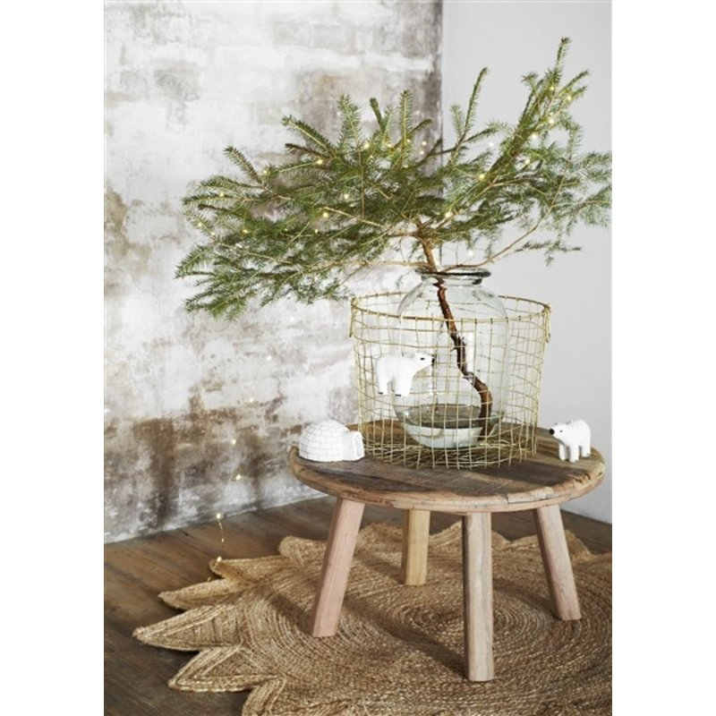 Madam Stoltz-collectie Ronde salontafel van gerecycled hout