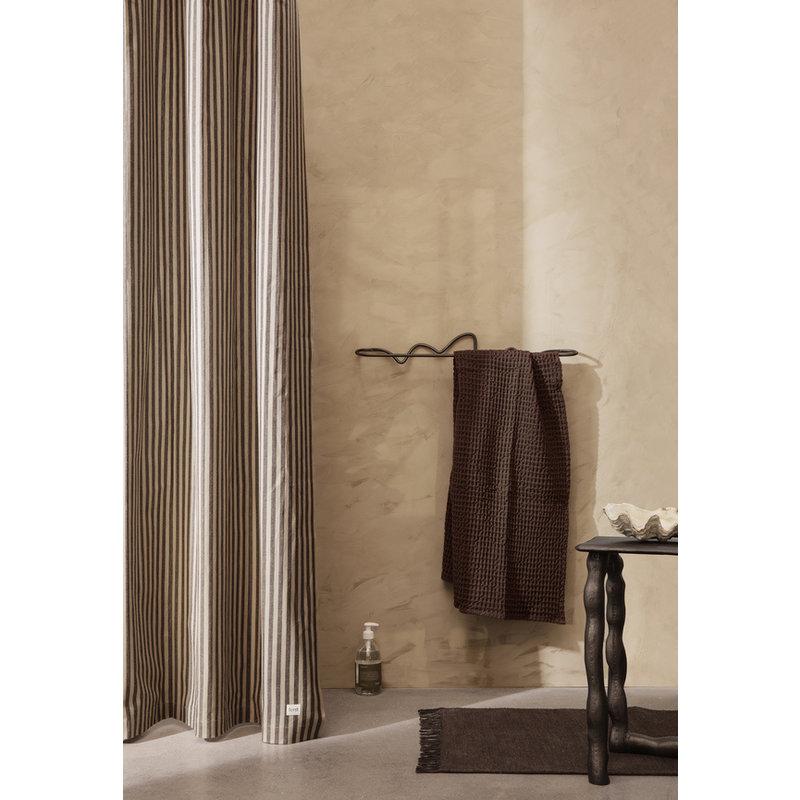 ferm LIVING-collectie Organic Bath Towel  - Chocolate