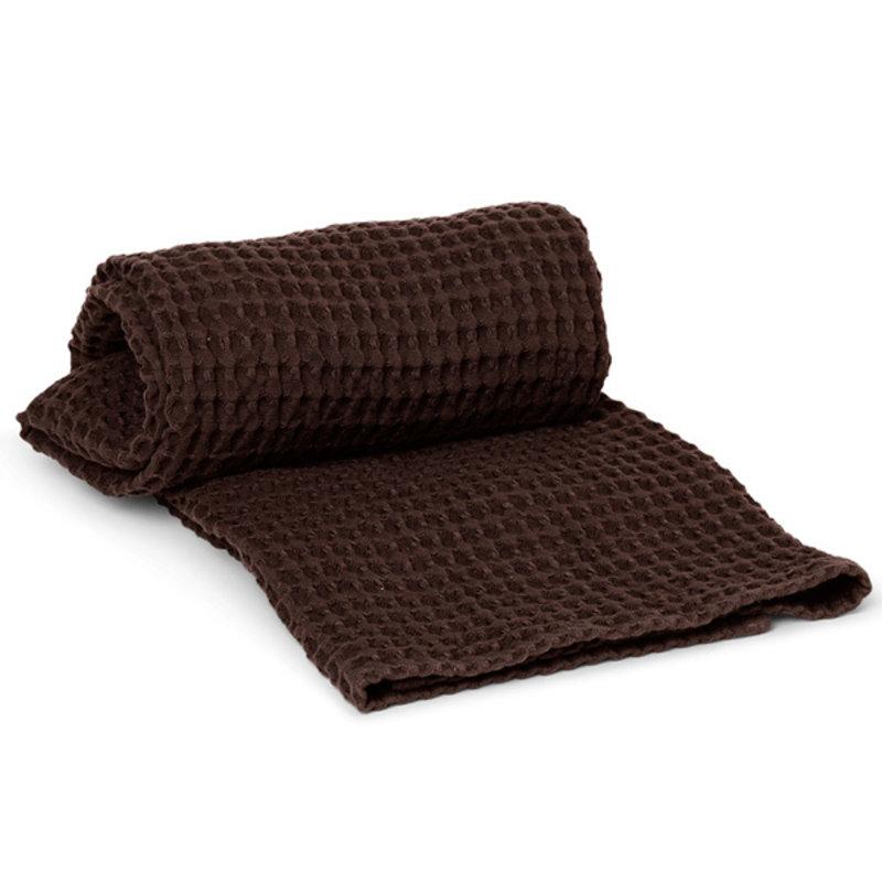 ferm LIVING-collectie Badhanddoek Organisch katoen - Chocolate
