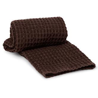 ferm LIVING Handdoek Organisch katoen - Chocolate