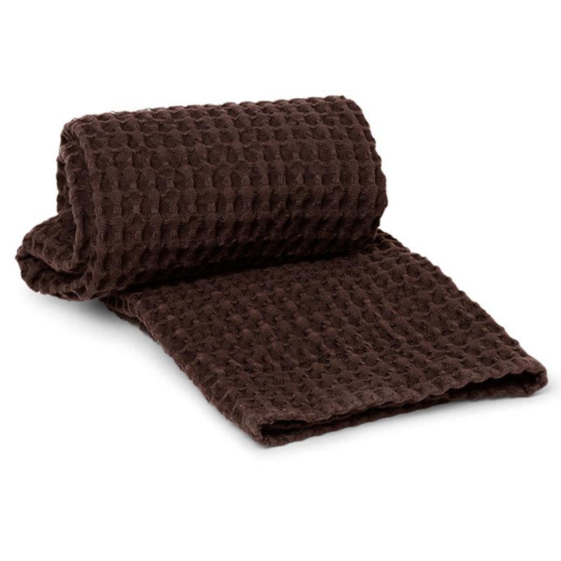 ferm LIVING-collectie Handdoek Organisch katoen - Chocolate