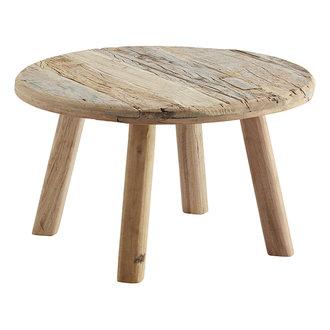 Madam Stoltz Ronde salontafel van gerecycled hout