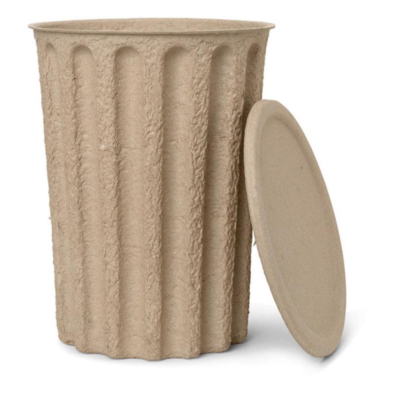 ferm LIVING-collectie Paper Pulp Paper Bin - Brown