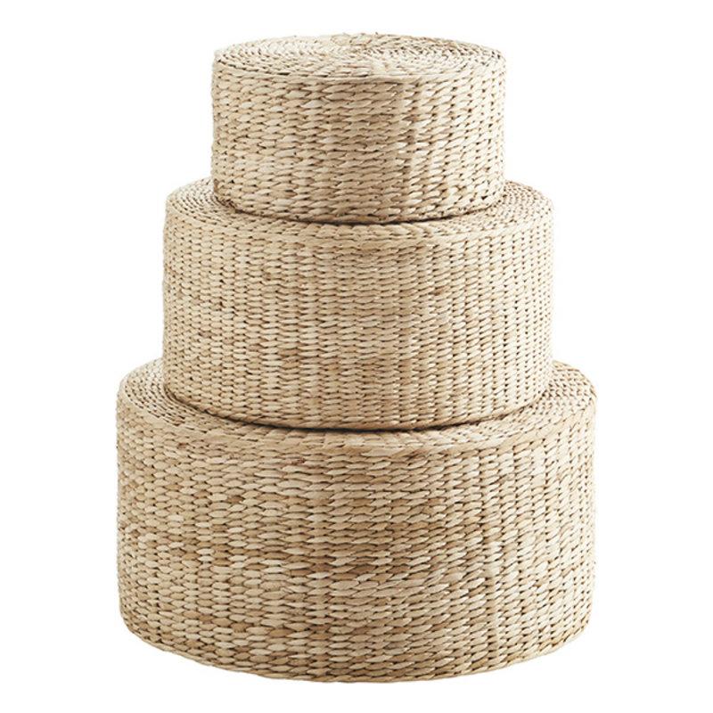 Madam Stoltz-collectie Rush poufs - Natural