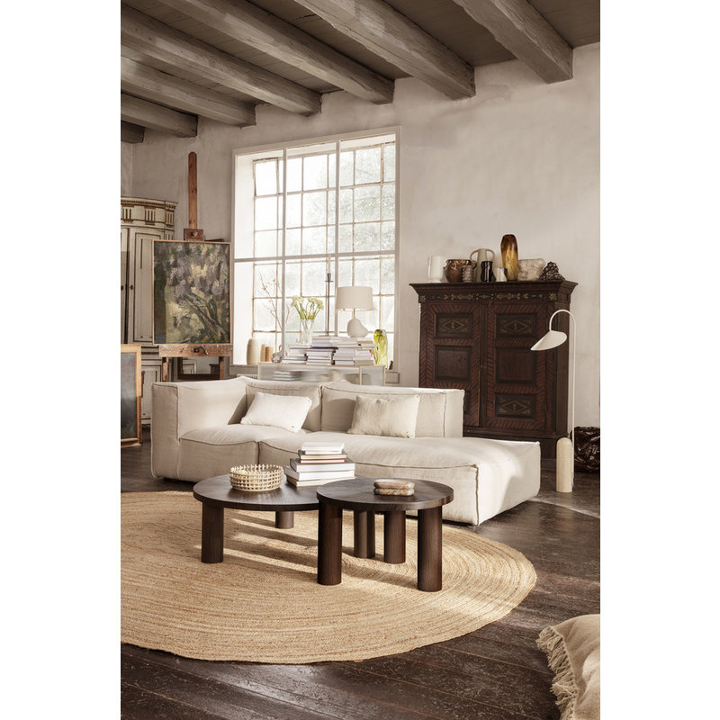ferm LIVING-collectie Post Coffee Table L - Smoked Oak Lines