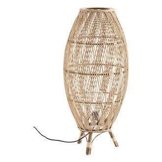Madam Stoltz Bamboe vloerlamp met rotan