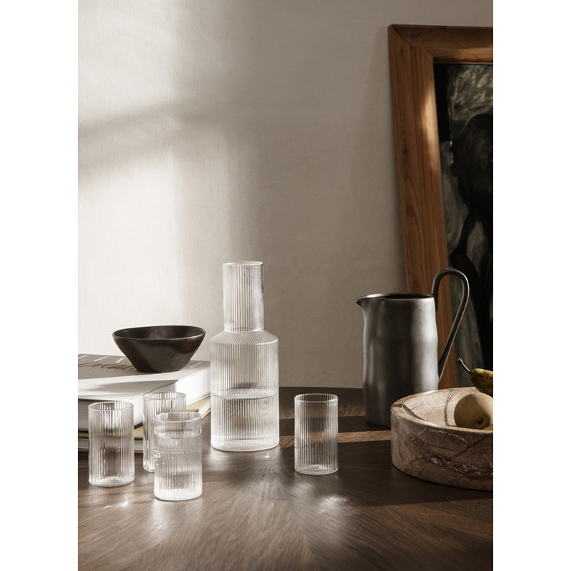 ferm LIVING-collectie Drinkglas Ripple