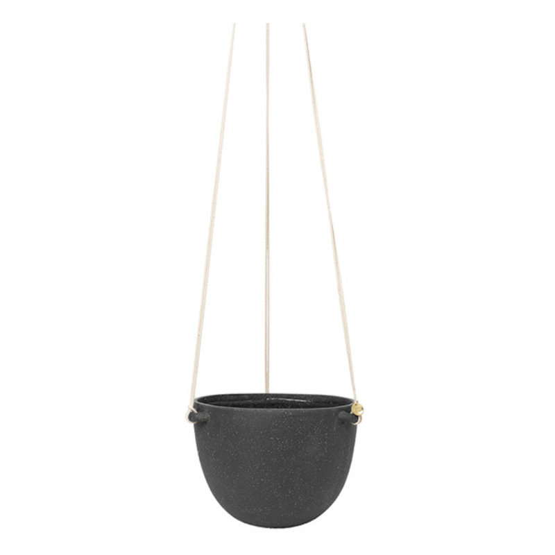 ferm LIVING-collectie Speckle Hanging Pot - Large - Dark Grey