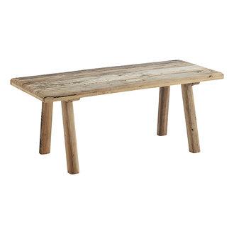 Madam Stoltz Bankje van gerecycled hout