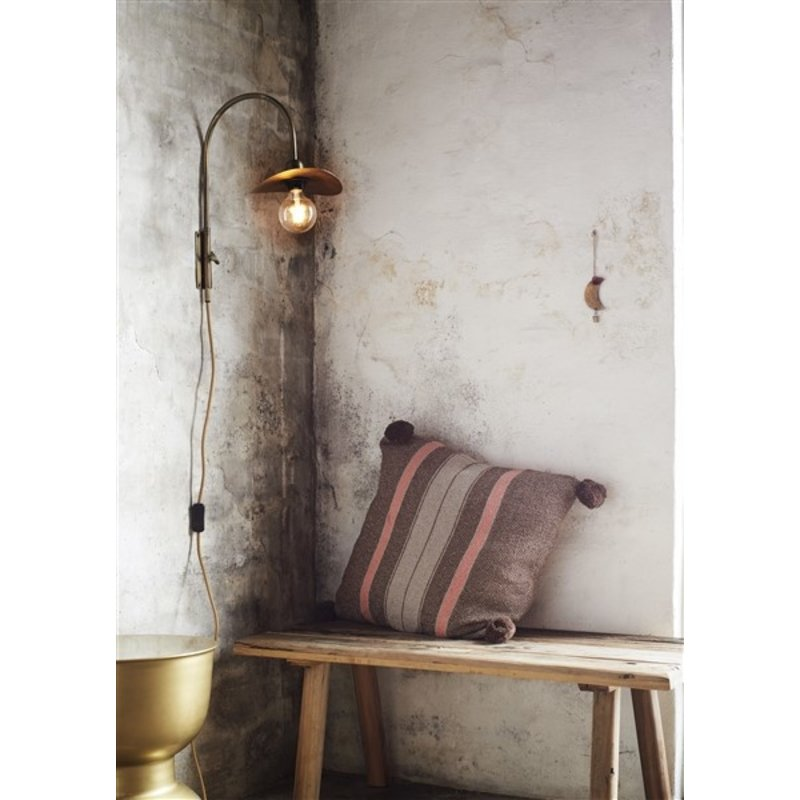 Madam Stoltz-collectie Wooden bench - Natural
