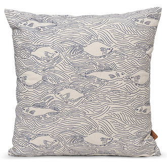 ferm LIVING Stream Cushion - Off-White