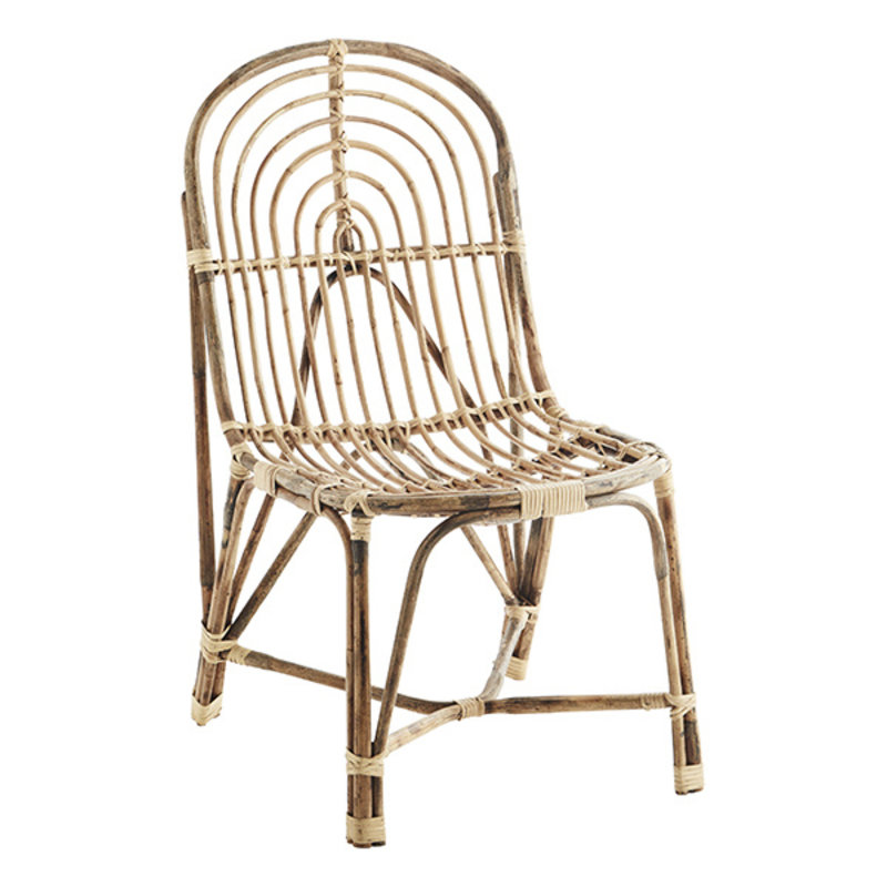 Madam Stoltz-collectie Bamboo lounge chair - Natural