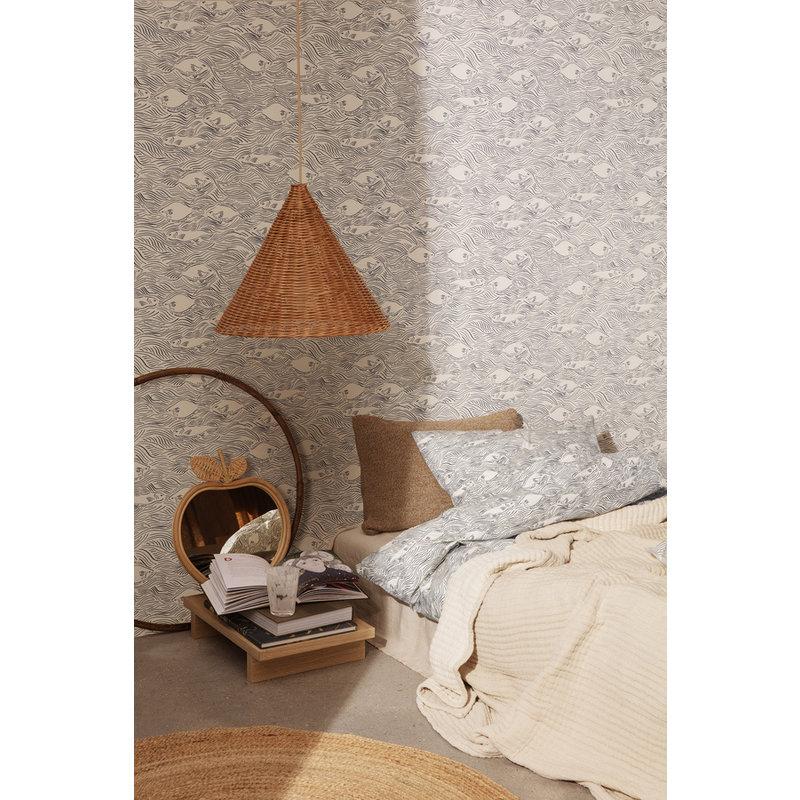 ferm LIVING-collectie Kussen Stream Off-White 90x40 cm