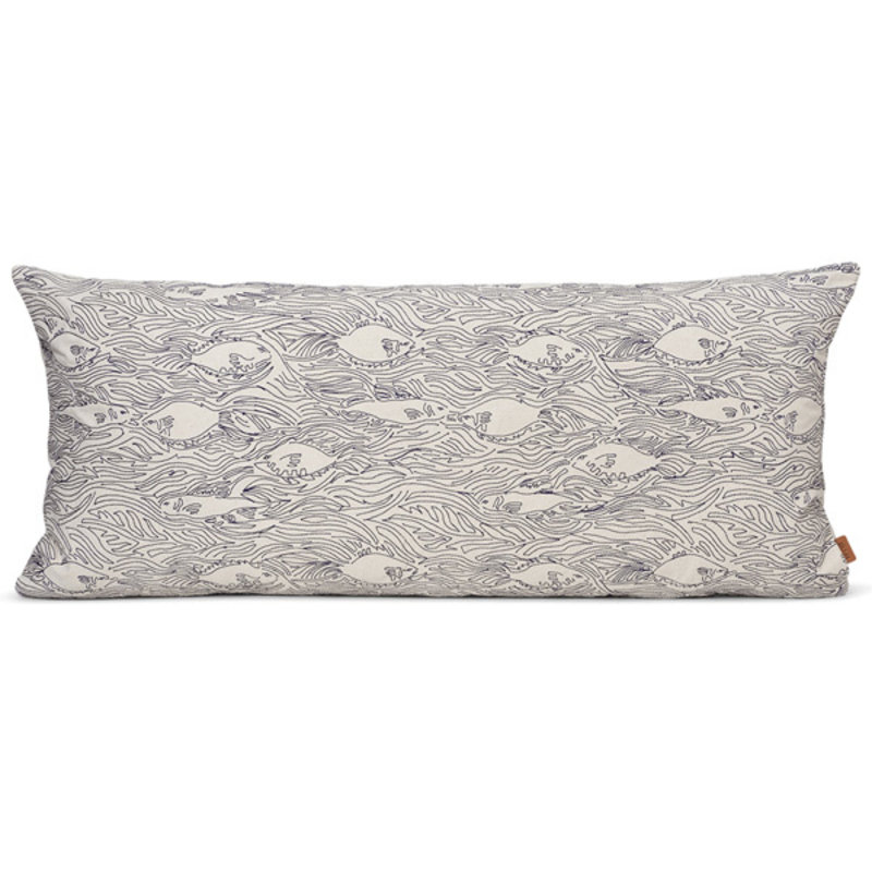 ferm LIVING-collectie Stream Cushion Long - Off-White