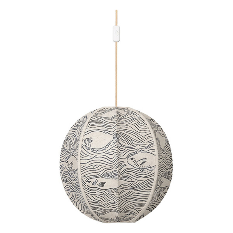 ferm LIVING-collectie Stream Embr. Textile Lampshade