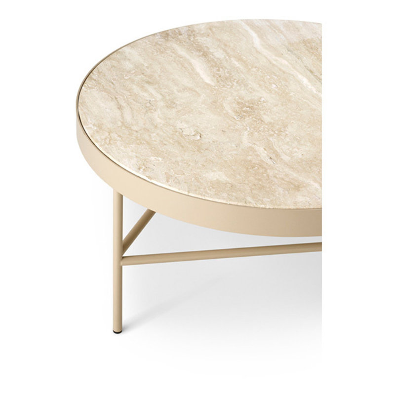 ferm LIVING-collectie Travertine Table - Large - Cashmere