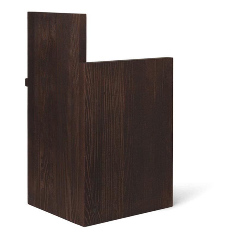 ferm LIVING-collectie Kruk - Site table UTA Piece  Dark Oiled Pinewood
