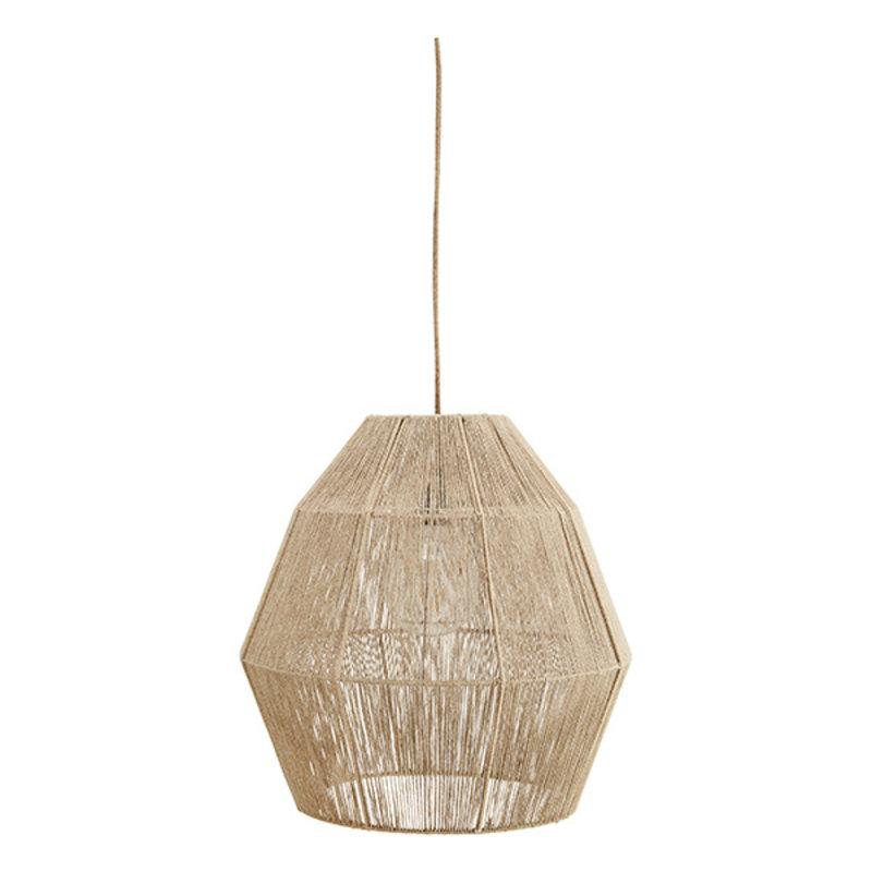 Madam Stoltz-collectie Jute ceiling lamp - Natural