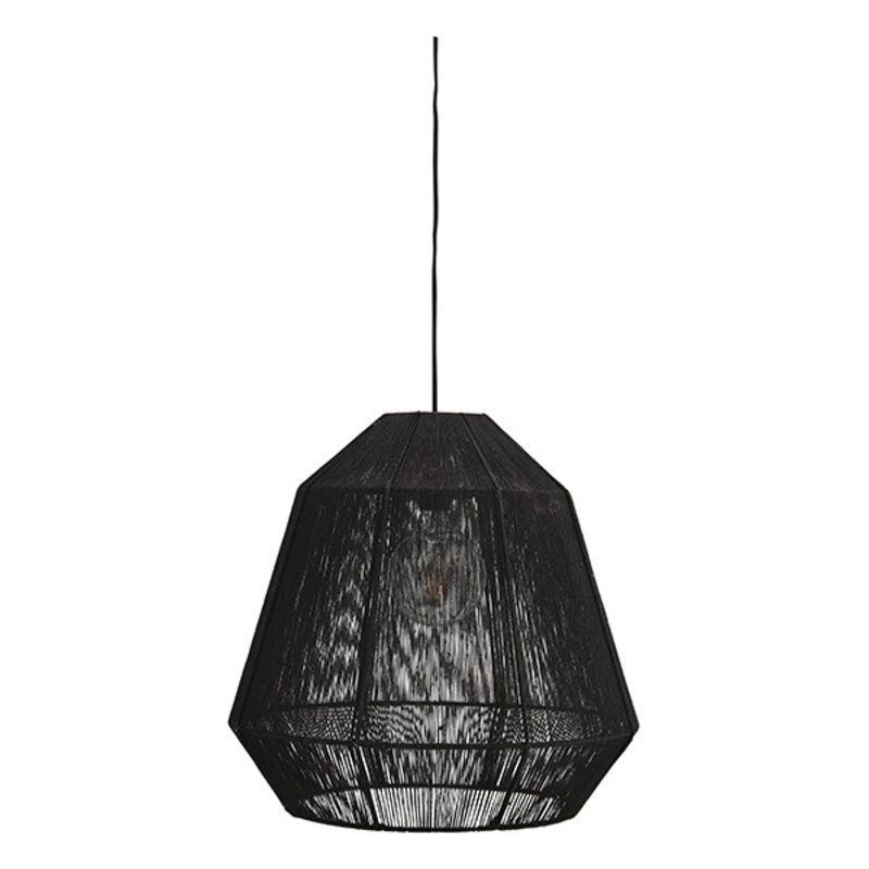 Madam Stoltz-collectie Hanglamp jute zwart