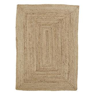 Madam Stoltz Jute braided rug - Natural
