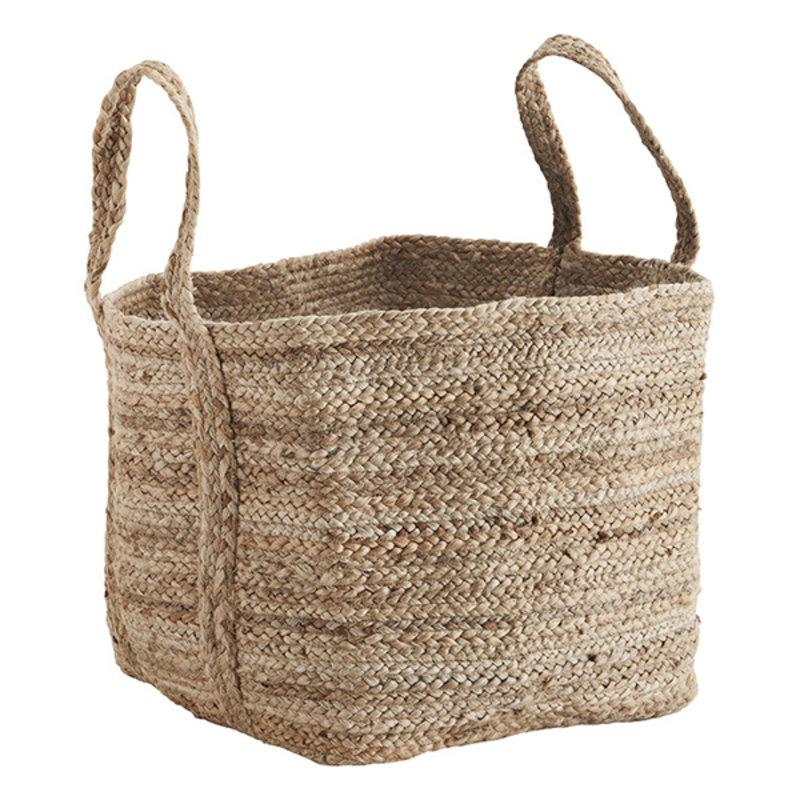 Madam Stoltz-collectie Jute braided bag - Natural