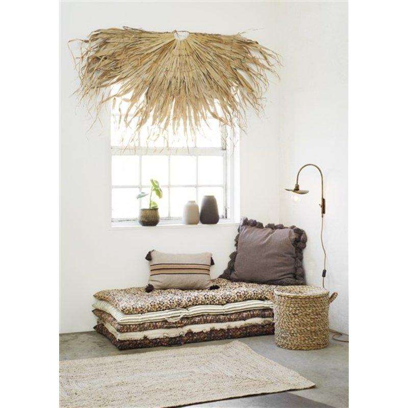 Madam Stoltz-collectie Seagrass basket w/ lid - Natural