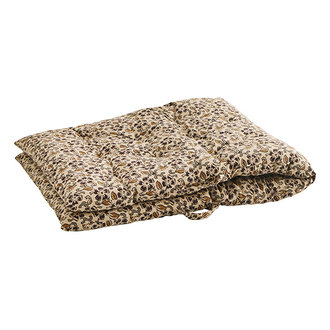 Madam Stoltz Printed cotton mattress - Beige, burnt henna, curry, grey