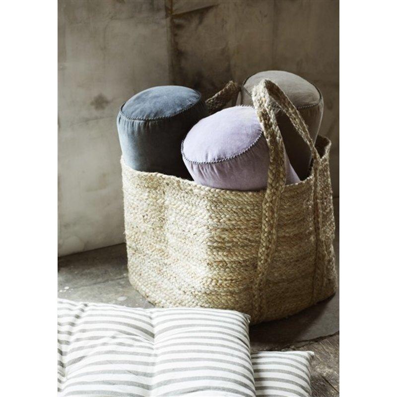 Madam Stoltz-collectie Striped cotton mattress - Off white, grey