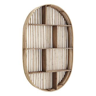 Madam Stoltz Oval bamboo shelf - Natural