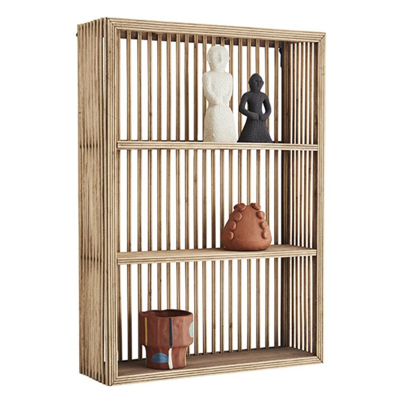 Madam Stoltz-collectie Rectangular bamboo shelf - Natural
