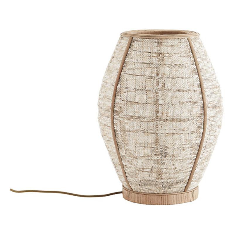 Madam Stoltz-collectie Bamboo table lamp w/ linen - Natural