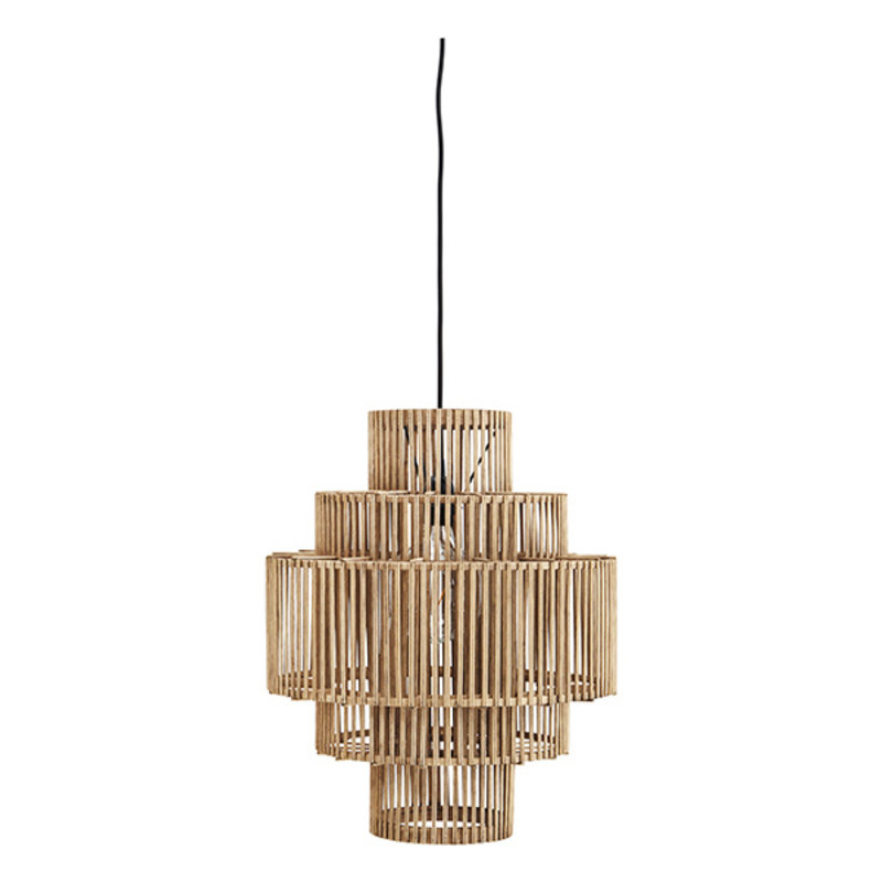 Madam Stoltz-collectie Bamboo ceiling lamp - Natural