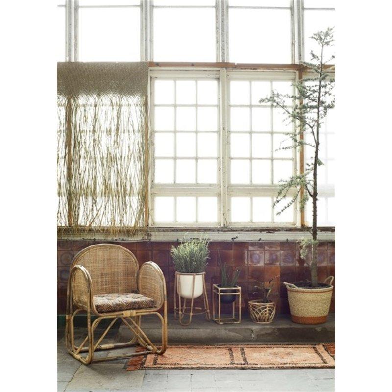 Madam Stoltz-collectie Bamboe plantenstandaard met pot - set van 2