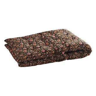 Madam Stoltz Printed cotton mattress-  Black, indian tan, rust, beige